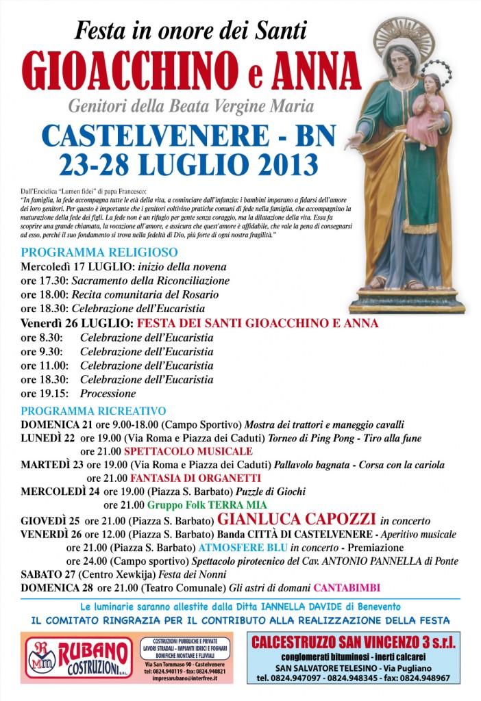 Manifesto Festa Gioacchino e Anna 2013