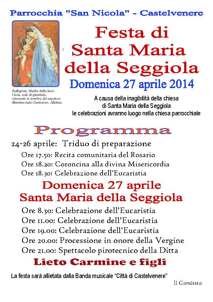 Santa Maria della Seggiola 2014