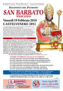 Solennità del Patrono San Barbato Vescovo 2016