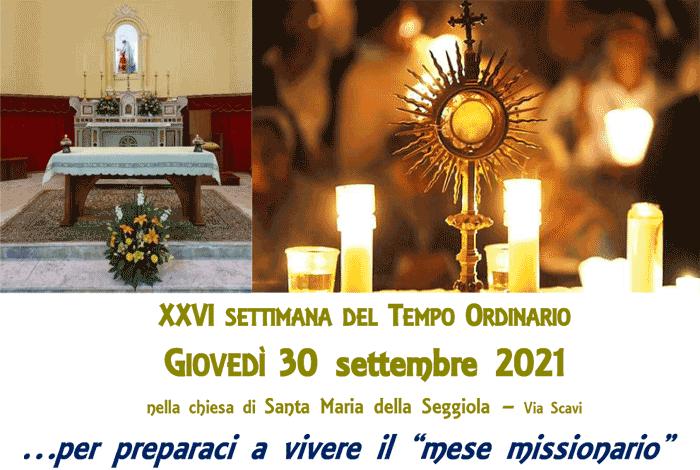 Esposizione Eucaristca - Giovedì 30 settembre 20121